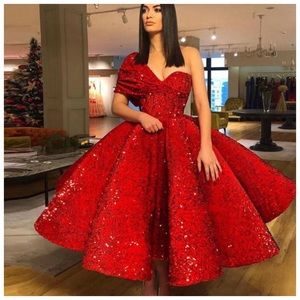 Dresses & Skirts - Couture Handmade Full Sequin Red Gown